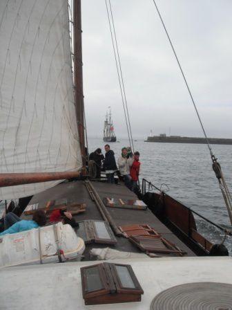 voyage de De Vrouwe Cornelia depuis Nort sur Erdre jusqu'aux Tonneres de Brest 2012