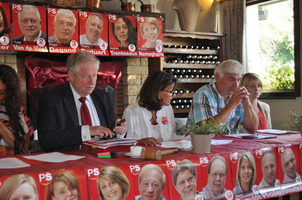 Un tout grand merci à Rudy Demotte, notre Ministre-Président de la Région wallonne ainsi qu'à Olga Zrihen, notre Présidente de Fédération mais aussi Vice-présidente du PS pour leur présence, leurs encouragements et leur soutien lors de notre
