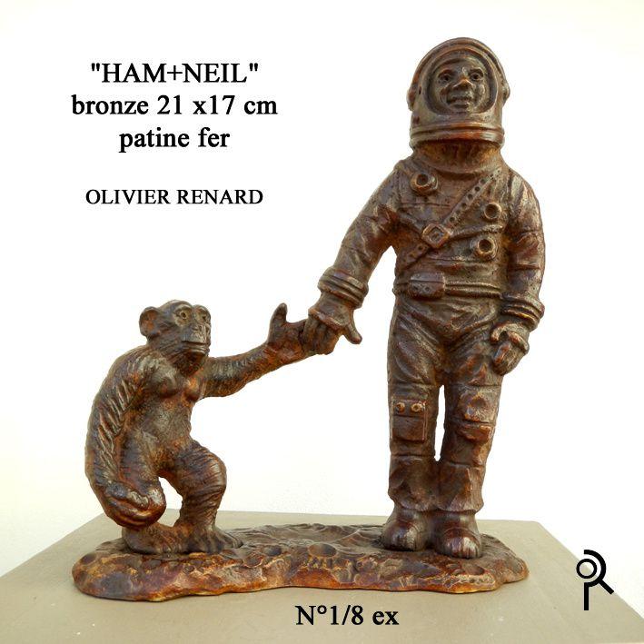 Sculptures sur les thématiques de l'espace. Sculptures animalières.