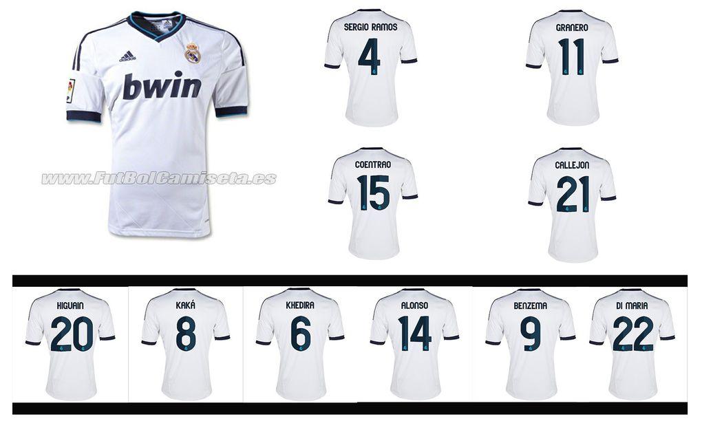 Camiseta Real Madrid 2012-13 en www.futbolcamiseta.es