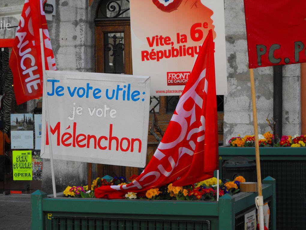 Action militante place st léger à Chambéry le 31 Mars 2012
