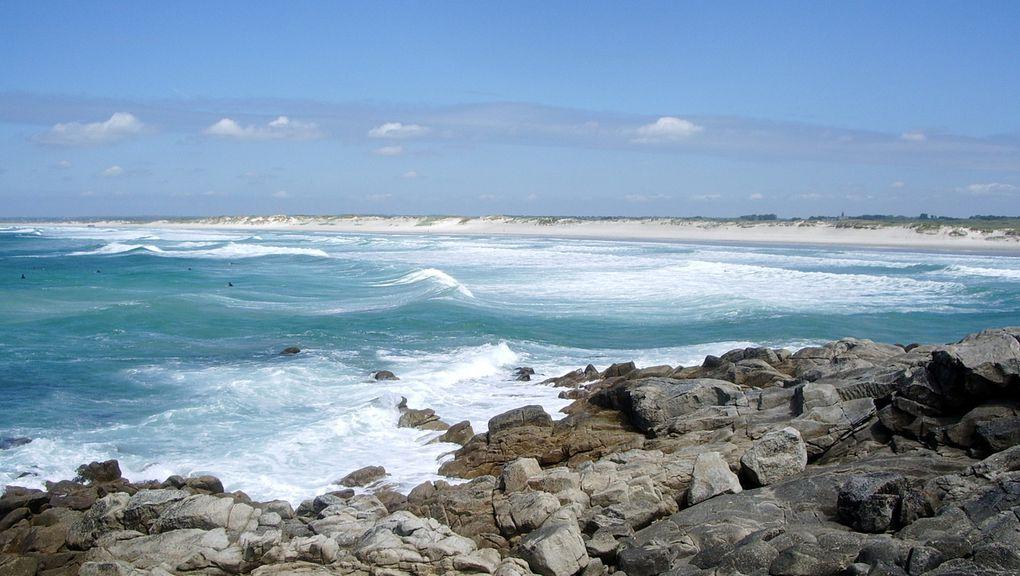 une plage à l'infini dans le sud finistère où les sufeurs sont les rois.