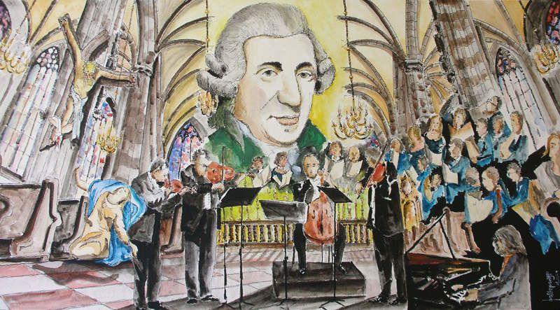 Ces tableaux ont été réalisés pour les Schubertiades de Schwarzenberg, saison 2011 et 2012Sur chacun des tableaux, on peu apercevoir ce village Autrichien, haut lieu de la musique classique !Sur chaque tableau, j'ai mis en scène les musiciens