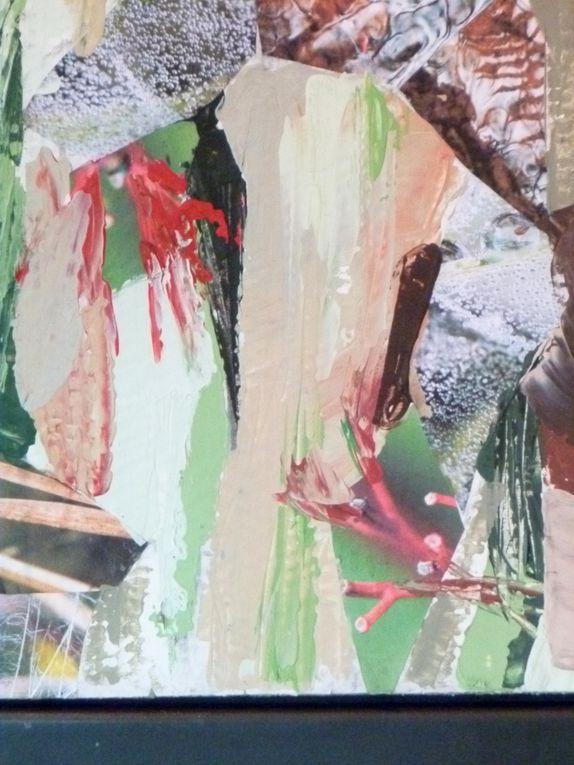 Papiers marouflés, pigments et liant50 x 70 cm