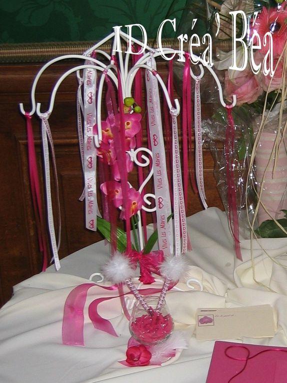 Mariage fuchsia sur le thème des orchidées (2009)