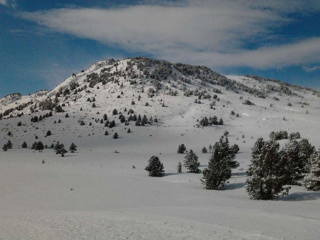 Romeufontaine sur la zone des Bouillouses 2013, des conditions de montagnards !