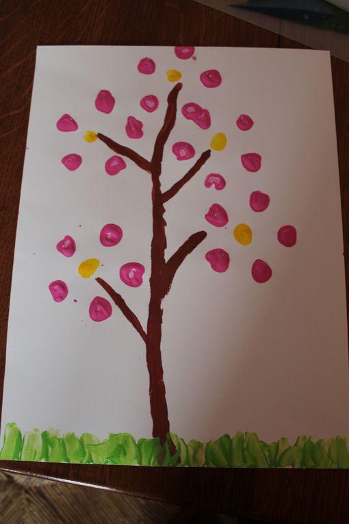 Peinture avec des billes...C'est rigolo et très beau...