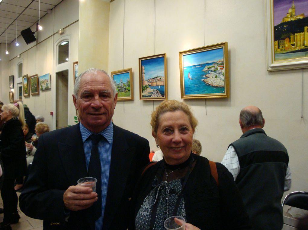 Vernissage des tableaux du peintre Marseillais Jacques TESTA à la Mairie du 2° et 3° arrondissements de Marseille le 3 Décembre 2012 : L'EMBARQUEE MARSEILLAISE.