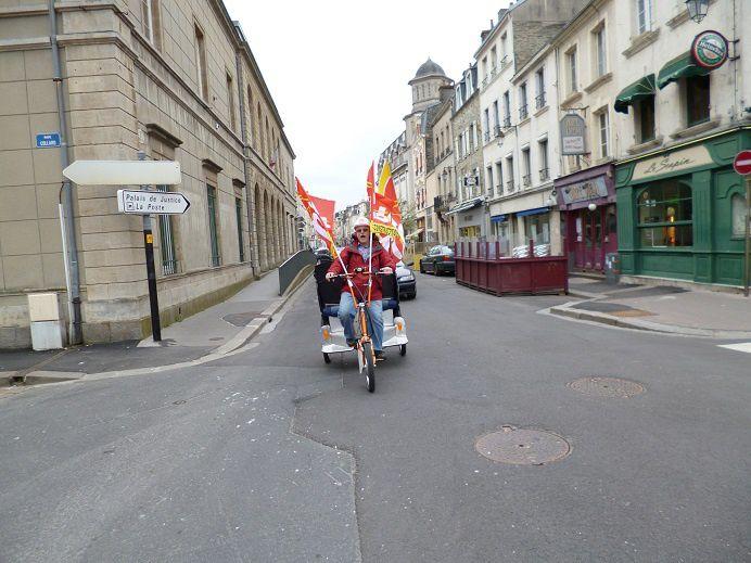 Manifestation du premier à Cherbourg