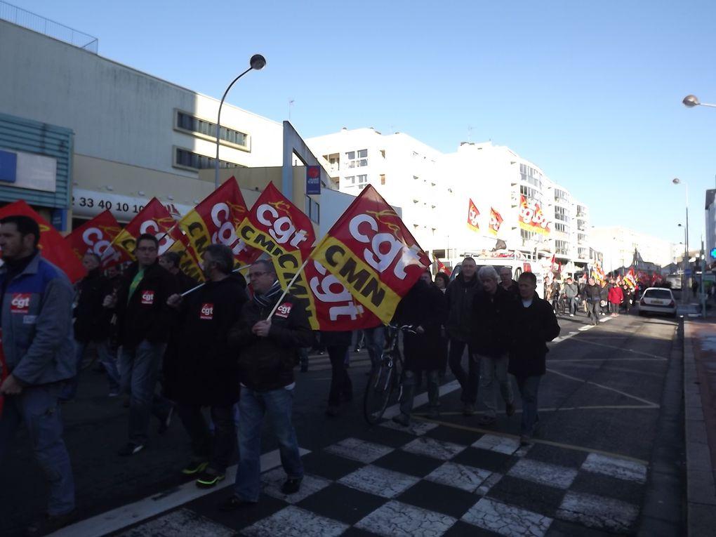 Une mobilisation visible ayant reposé essentiellement sur la CGT à Cherbourg