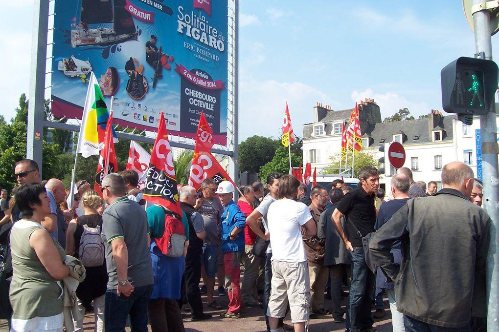 Mobilisation interprofessionnelle du 26 juin 2014 : la CGT toujours présente pour se battre contre l'austérité.