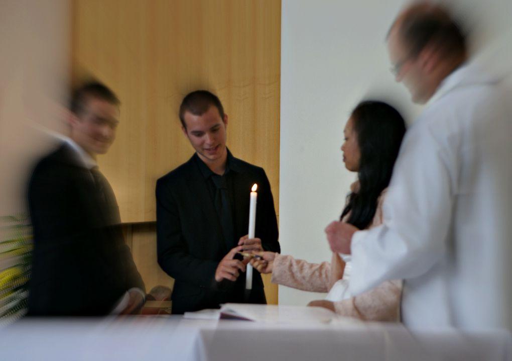Zoom sur ceux qui signent l'acte de baptême
