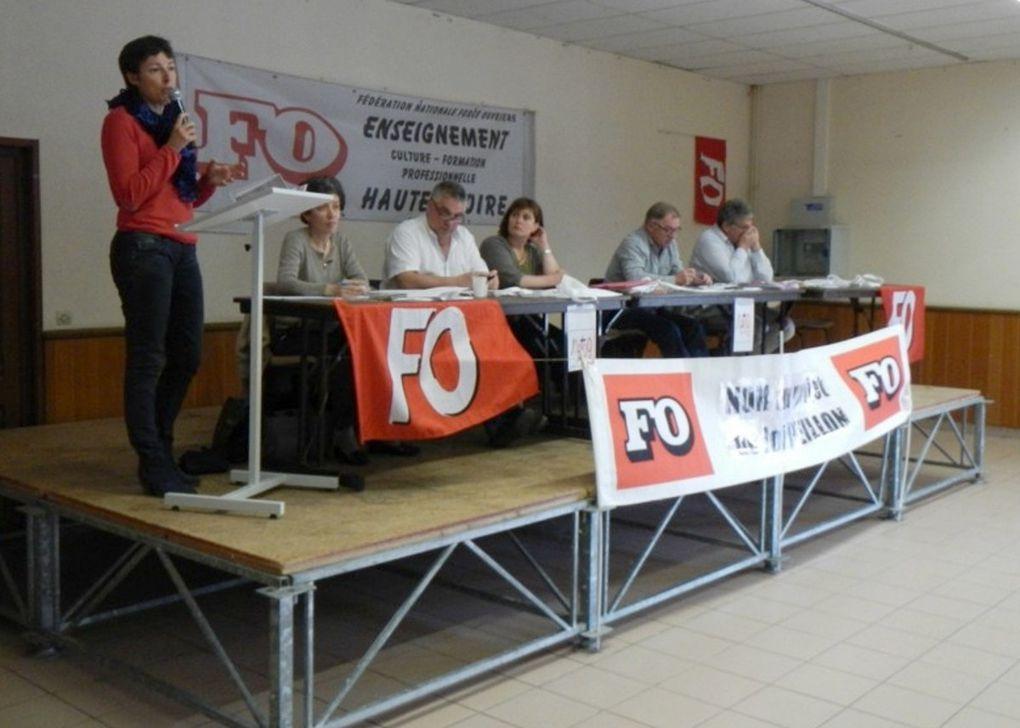 150 délégués à l'AG de la FNEC-FP FO, la première fédération syndicale dans l'enseignement en Haute-Loire