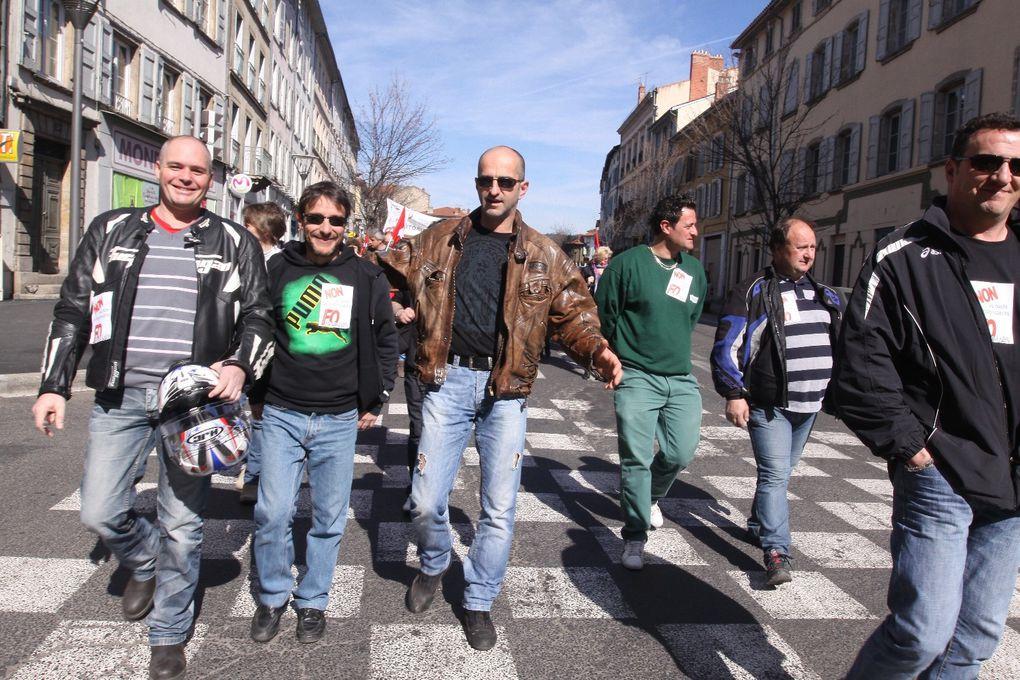 Mardi 18 mars 2014. A l'appel des confédérations FO et CGT, de la FSU et de Solidaires, journée nationale de grève interprofessionnelle et de manifestation contre le pacte de responsabilité MEDEF - Gouvernement - CFDT