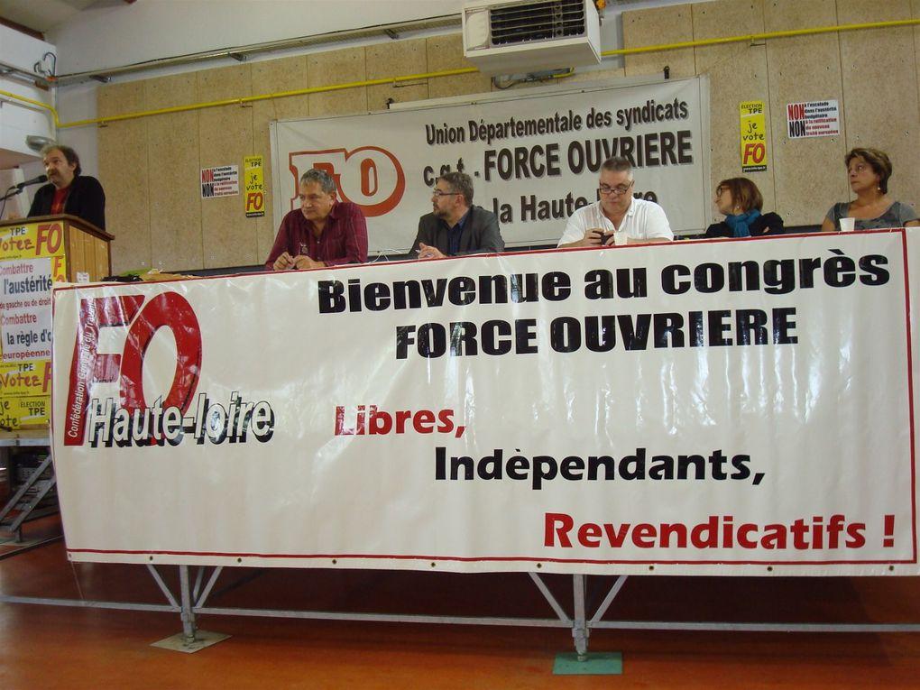 150 participants au Conseil Départemental des syndicats FO de la Haute-Loire à Saint Paulien sous la présidence de Patrick Privat, secrétaire confédéral.