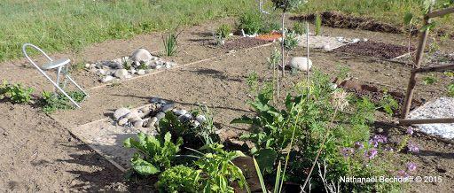 Un jeu de l'oie géant  aux Jardins de Chanabier !