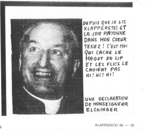 Un peit album des têtes à Klapp épinglées par  feu J.P. Sallent dans le journal Klapperstei 68