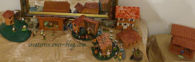 Au fil des ans,je construis mon village de Noël.  Pour santons de 4 à 7cm