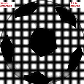 Tout ce qui peut se broder autour du foot, logos, ballons....