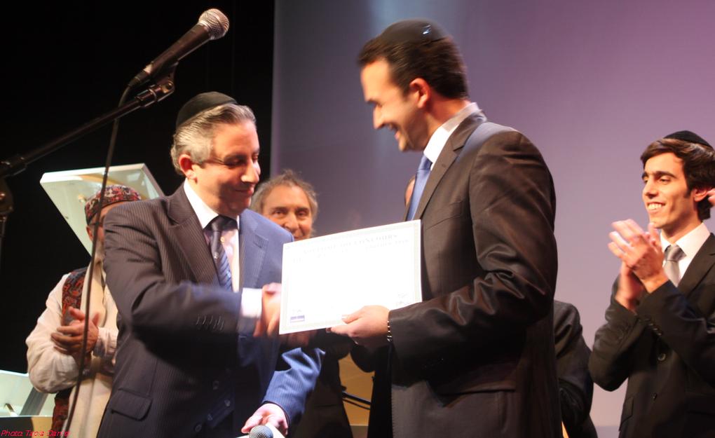 Soirée de Gala de la Finale 2010.Le Lauréat Marc Benisty.