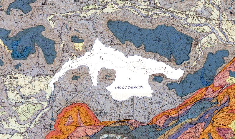 Photos du site du Lac du Salagou, dans le bassin permien de Lodève.Auteurs : Annie et Michel ROUETHendrik VREKEN