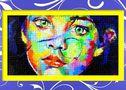 Dessin et peinture - vidéo 2240 : Dans la série des peintures colorées - le portrait d'un enfant à l'acrylique.