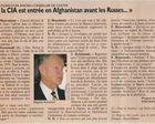 « Oui, la CIA est entrée en Afghanistan avant les Russes … » (Nouvel Observateur)