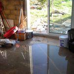 Une maison inondée, question d'écoulement