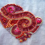 Coeur perlé, suite / Beaded Heart, work in progress #4