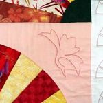Quilting dans les blocs éventails / quilting in the fan blocks