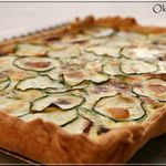 Tarte courgette roquefort