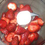 Crème Glacée a la fraise express....
