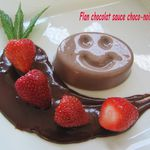 FLAN CHOCOLAT SAUCE CHOCO-NOISETTE