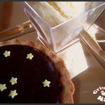 Tartelettes au chocolat et glace aux calisson