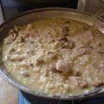 risotto de volaille aux champignons