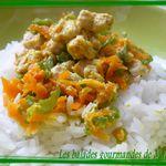 Papillotte de dinde curry-coco