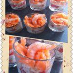 Verrines fraîches crabe, crevette et saumon fumé