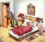 Image drôle : un amant inventif !