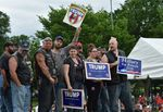 Trump devant les motards anciens combattants