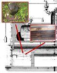 Identification vestiges, grille de cendrier de chaudière