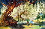 Frodon et Sam chez Tom Bombadil par Roger Garland