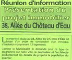 Projets immobiliers : réunions d'informations lundi 12 mars 2012