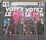 Affiches de la campagne présidentielle 2007, outrages et lacérations