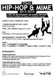 A La Grange 2013-2014: atelier percussions les lundis, stage: corps libre et vivant les 26-27 octobre, stage de hip-hop les samedi