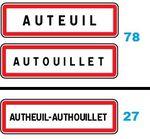 Auteuil, Autouillet (78) et Autheuil-Authouillet (27)