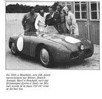 Les records Panhard DB en 1950