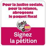Pour la justice sociale, pour la relance, abrogeons le paquet fiscal
