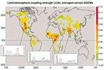 Region of strong coupling between soil moisture and precipitation