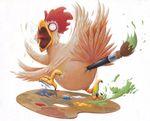 Qu'il est con ce poulet !!!
