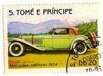 MERCEDES CABRIOLET 1924 - TIMBRE POSTE OBLITERE